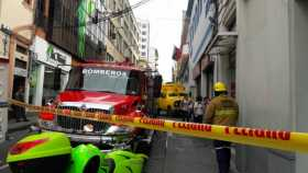 Carro de valores se accidentó en el centro de Manizales