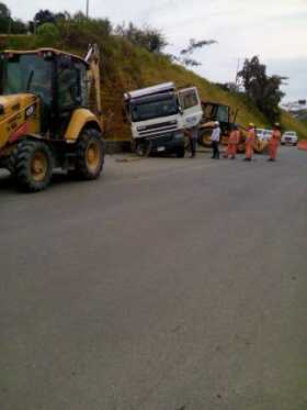 Accidente de volqueta en Risaralda